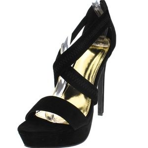 Shoes - Aphrodite Black Platform Heel